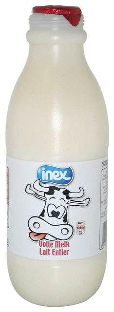 Volle melk gesteriliseerd plastic Inex 1l