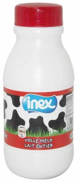 Lait entier stérilisé plastique Inex 480ml