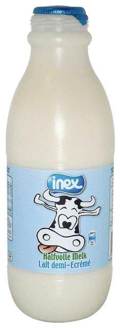 Halfvolle melk gesteriliseerd plastic Inex 1l