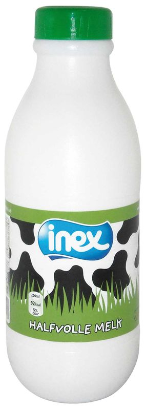 Halfvolle melk gester plast schroefdop Inex 1l