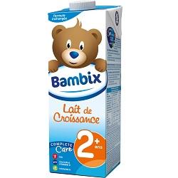 Lait croissance 2+ Bambix 1l