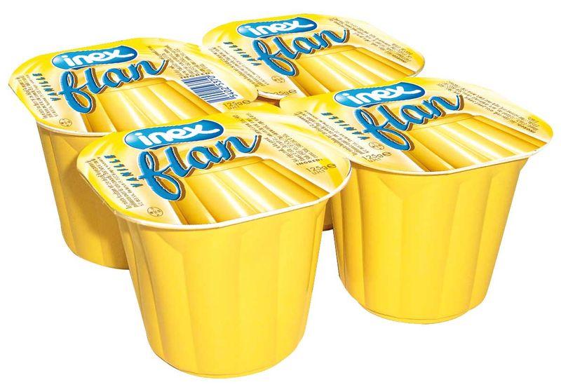 Flan vanille Inex 125g