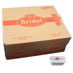 Boter cups Bridel 10g x100