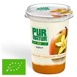 Yoghourt ent mangue/van bio Pur Natur 500g