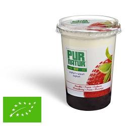 Yoghourt entier fraise bio Pur Natur 500g