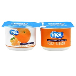 Yoghourt orange/mandarine Inex 100g
