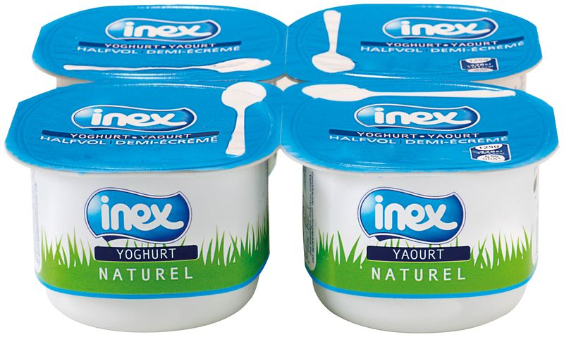 Yoghourt nature sucré Inex 125g