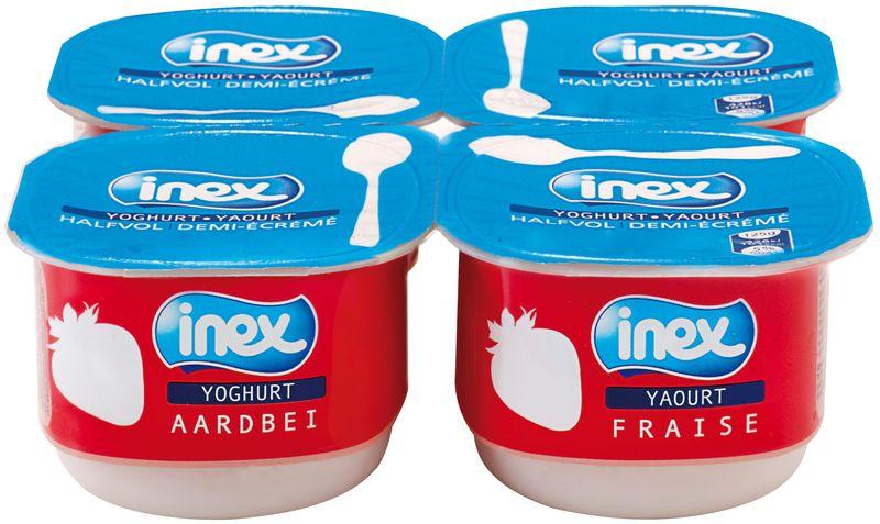 Yoghourt aromatisé fraise Inex 125g
