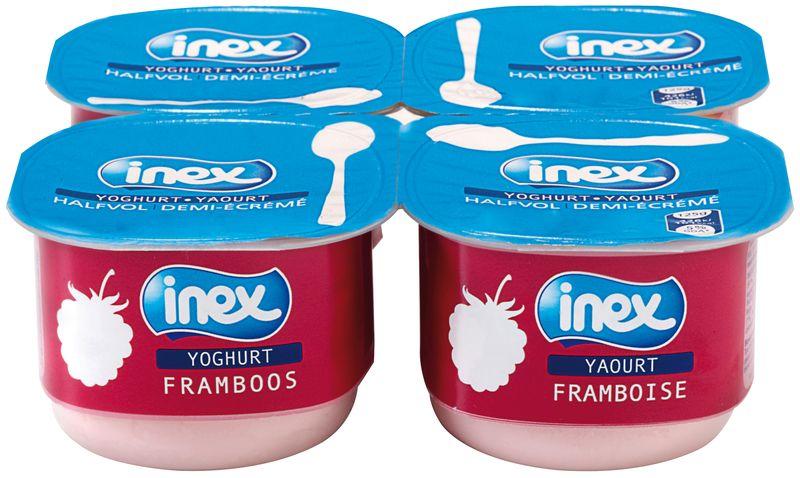 Yoghourt aromatisé framboise Inex 125g