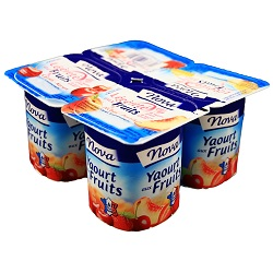 Yoghourt 0% fruits Nova 125g