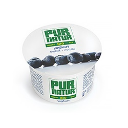 Yoghurt bosbes bio Pur Natur 100g