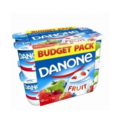 Danone yoghourt entier fruits 125g