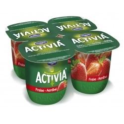 Danone activia fraise 125g