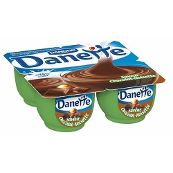 Danone danette chocolat/noisette 125g