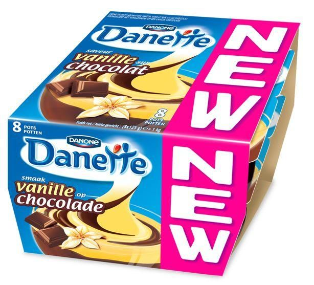 Danone danette double saveur 125g