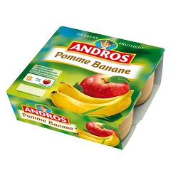 Andros pomme/banane 100g