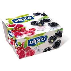 Alpro framboise-cranberry/mure 125g