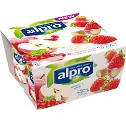 Alpro fraise-rhubarbe/groseille-pomme 125g