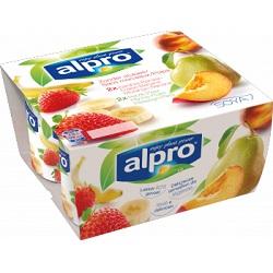 Alpro fraise-banane/peche-poire 125g